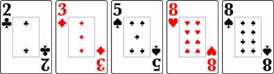 ワンペアーのカード
