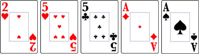 ツーペアのカード
