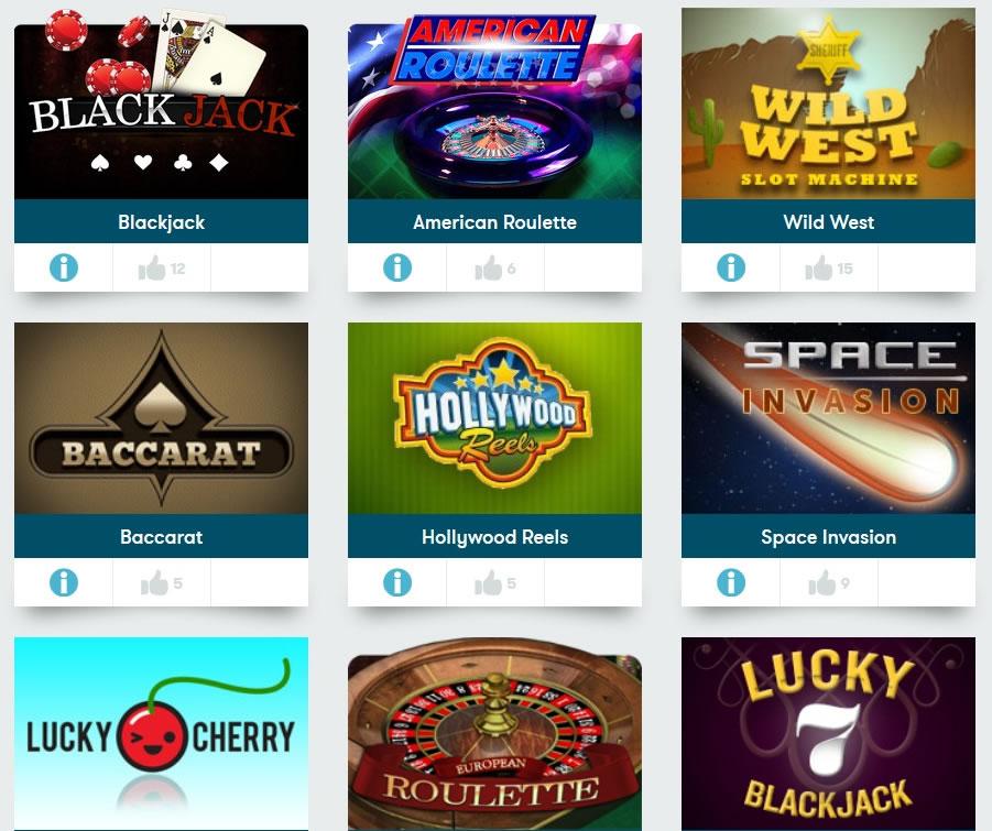 ブラウザーカジノのゲーム一覧